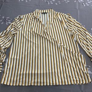 Adrianna Papell stripe blouse, size XL.